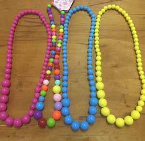 Stretchy bubblegum beaded necklaces choose color
