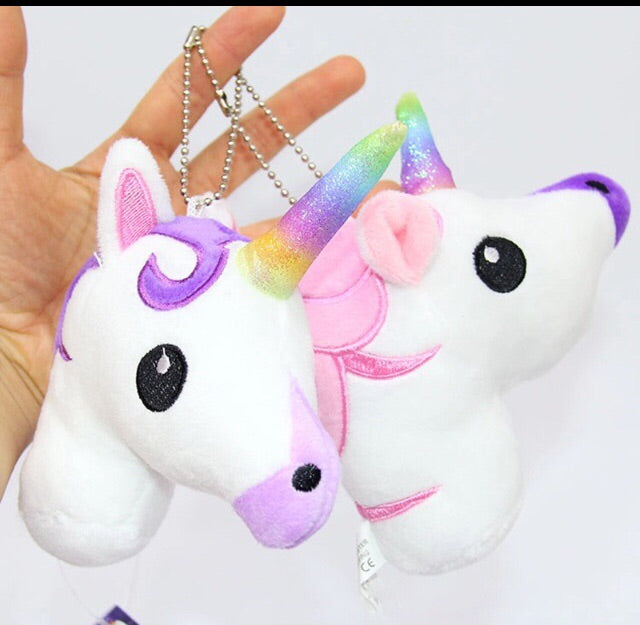Plush rainbow unicorn choose pink or purple