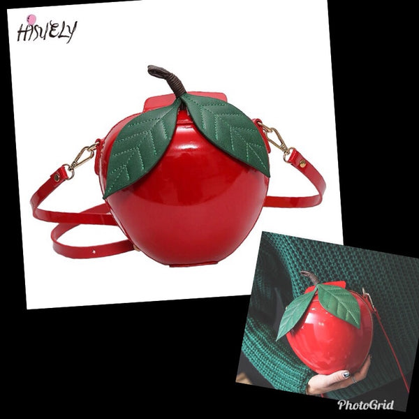 Poison red apple handbag