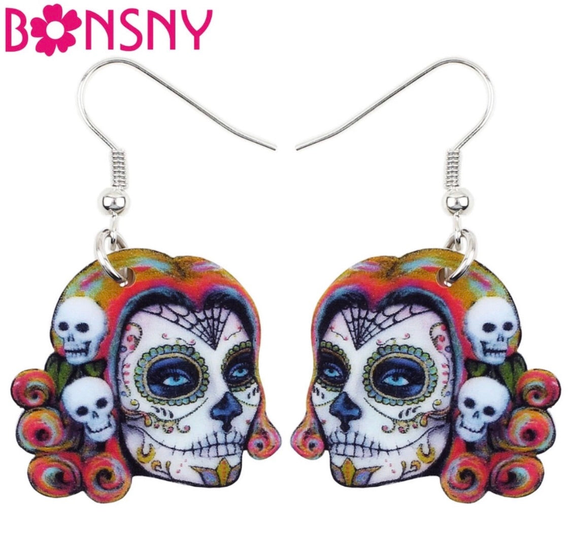 Bonsny Day of the dead earrings