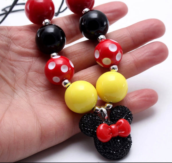 Minnie jumbo bead necklace