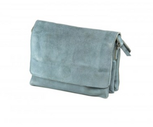 Full Grain - Coriander Small Cross Body Bag in Grey