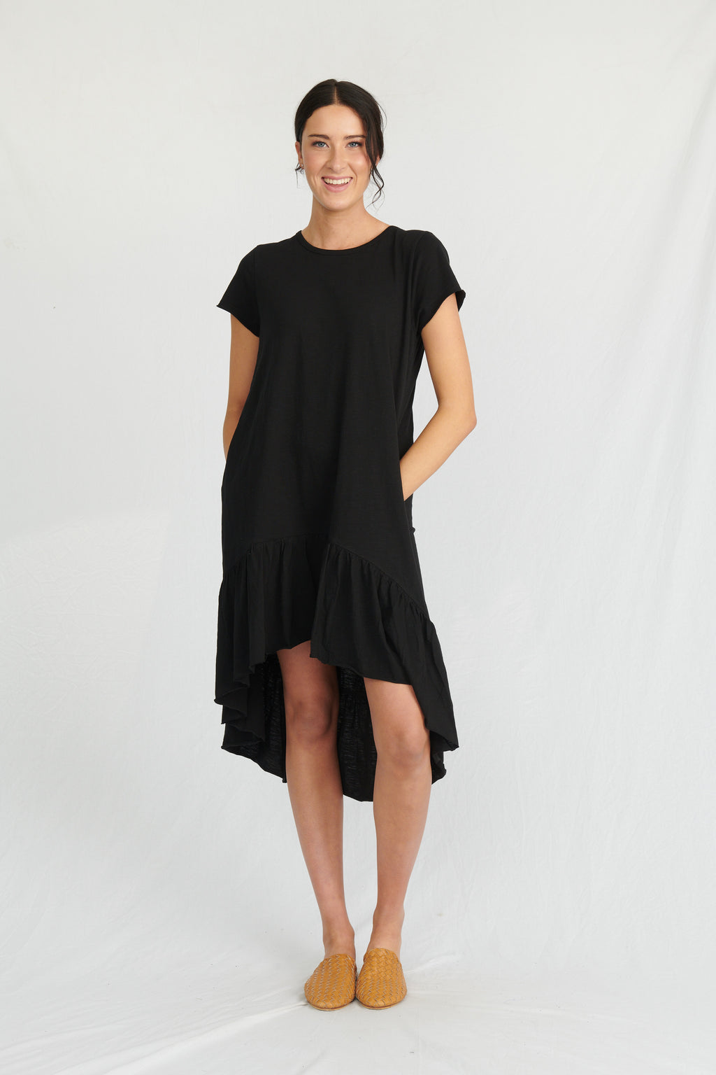 Lulu Organics Cotton Essentials - Somerville Dress Black