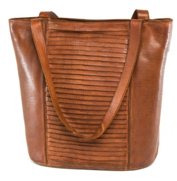 Full Grain - Peach Bag in Chestnut