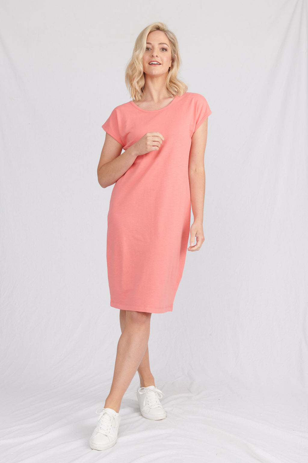 Lulu Organics Cotton Essentials - Malibu Dress Coral Flame