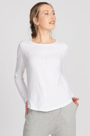 Lulu Organic Cotton Essentials - New York Long Sleeve in White