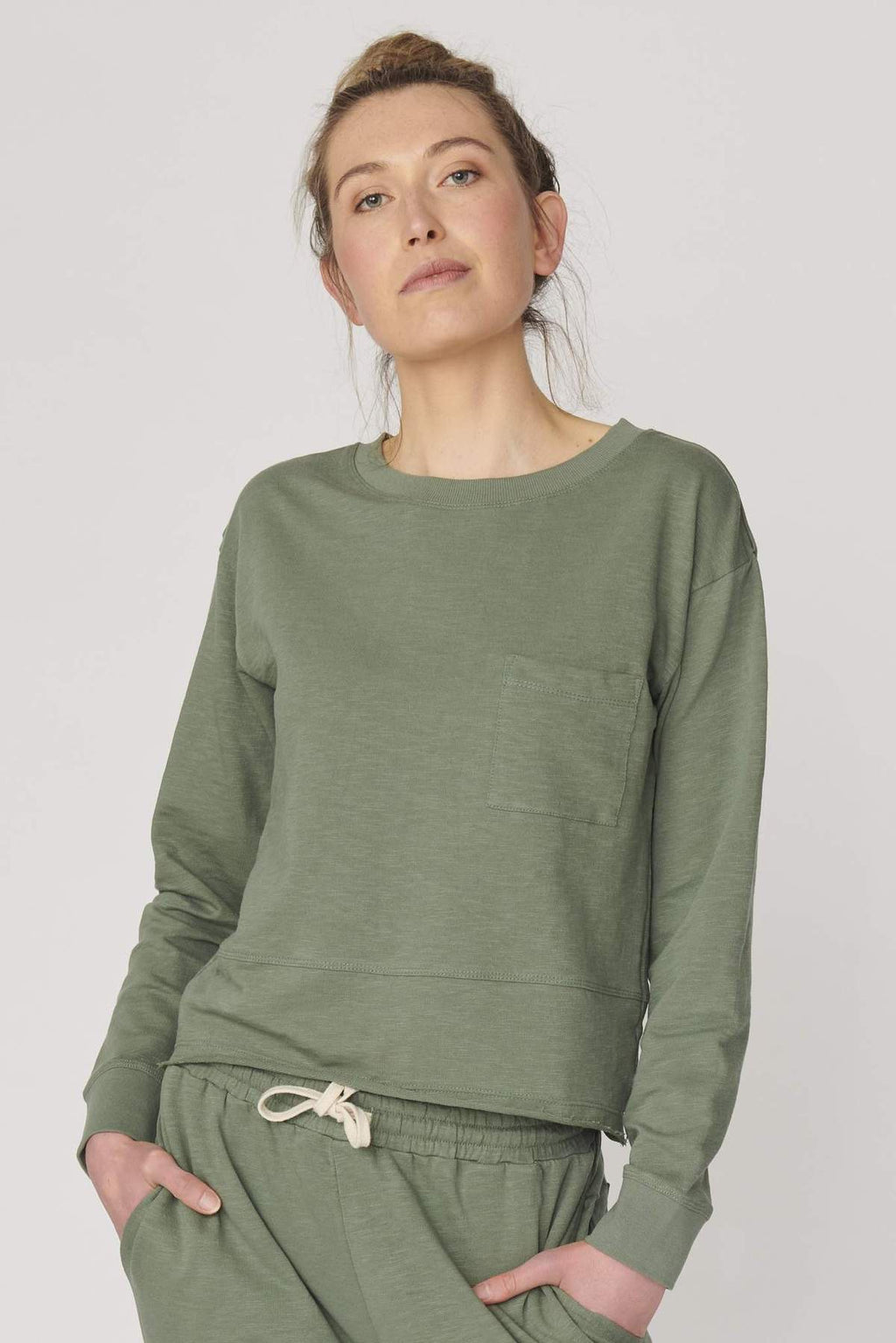 Lulu Organic Cotton Essentials - New Jersey Sweater Khaki