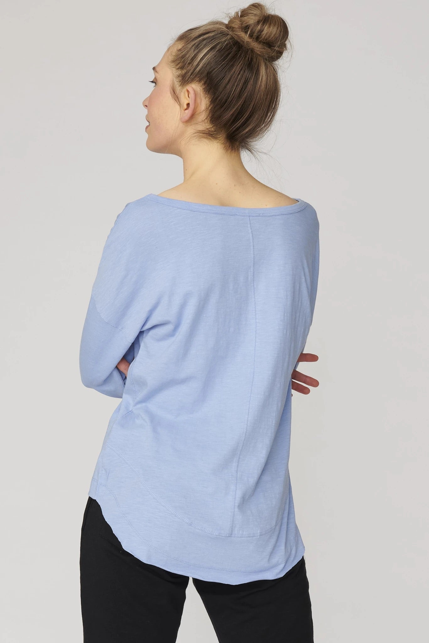 Lulu Organic Cotton Essentials - New York Long Sleeve in Robot Blue