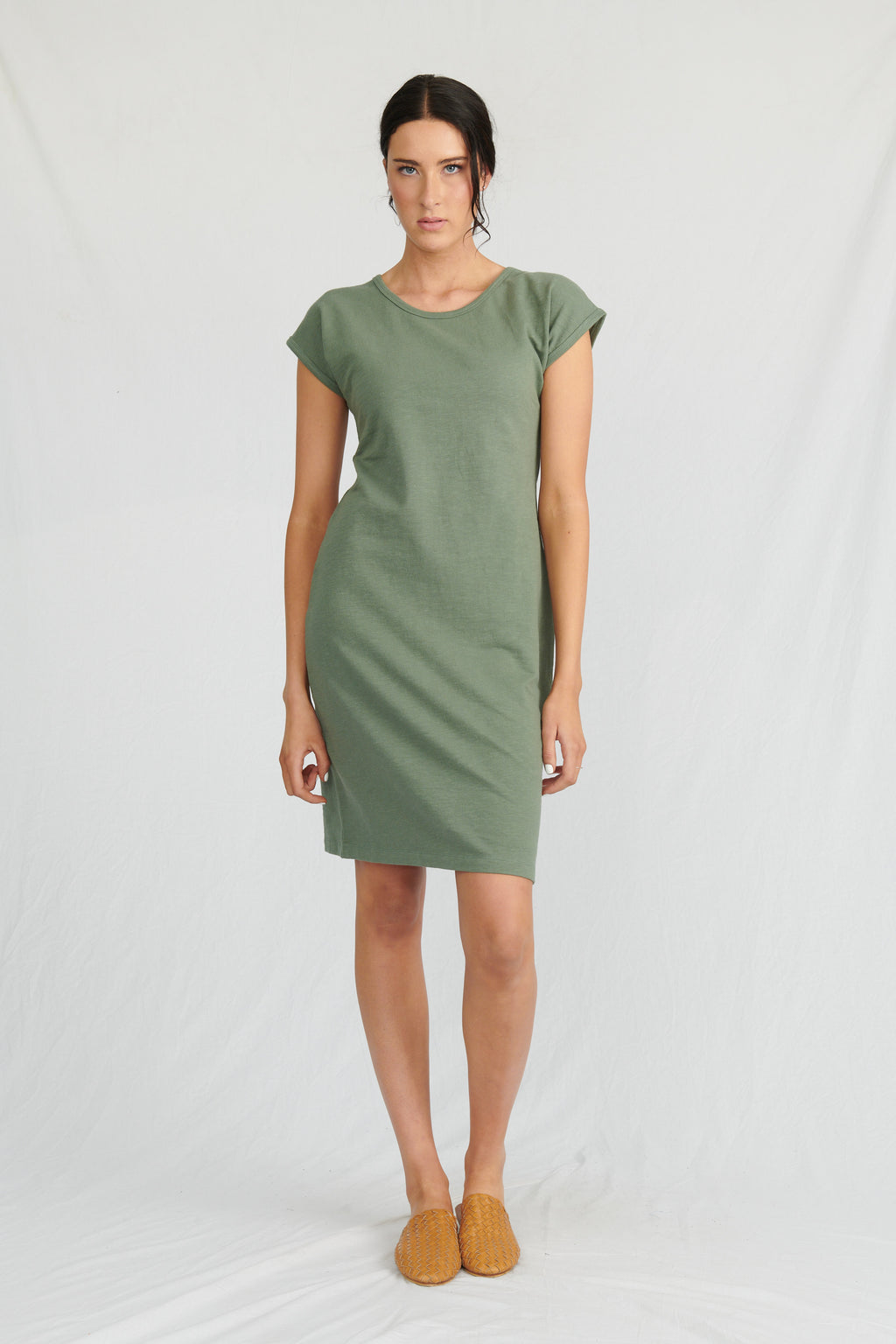 Lulu Organics Cotton Essentials - Malibu Dress Khaki