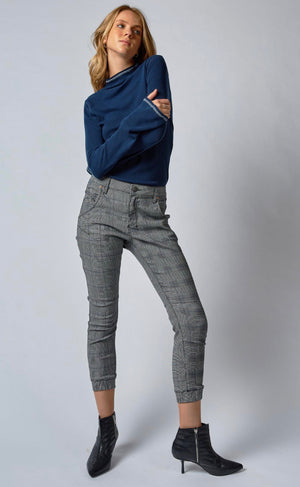 Dricoper - Cuffed Jean in Cobalt Check