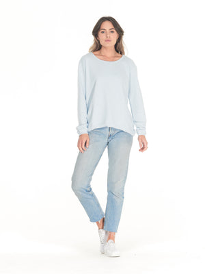 Cle' - Lucy Sweater in Ice Blue