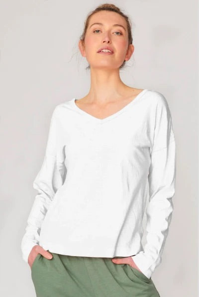 Lulu Organics Cotton Essentials - Chicago Long Sleeve Tee White