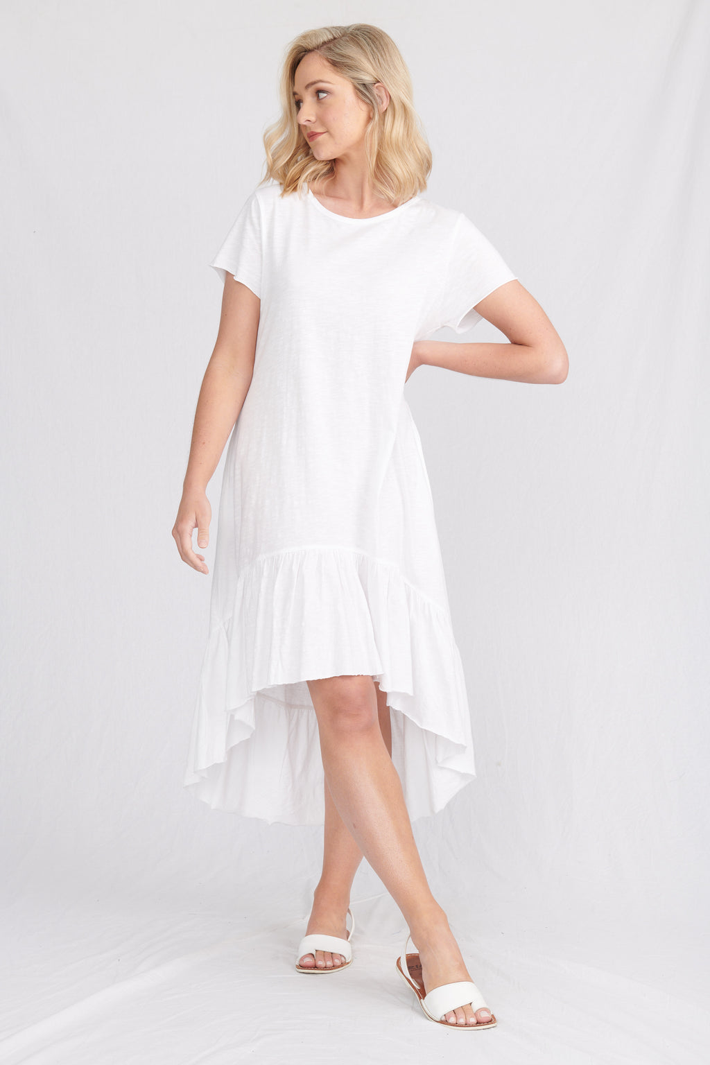 Lulu Organics Cotton Essentials - Somerville Dress White