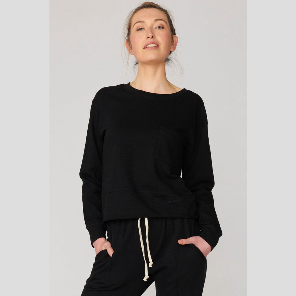 Lulu Organic Cotton Essentials - New Jersey Sweater Black