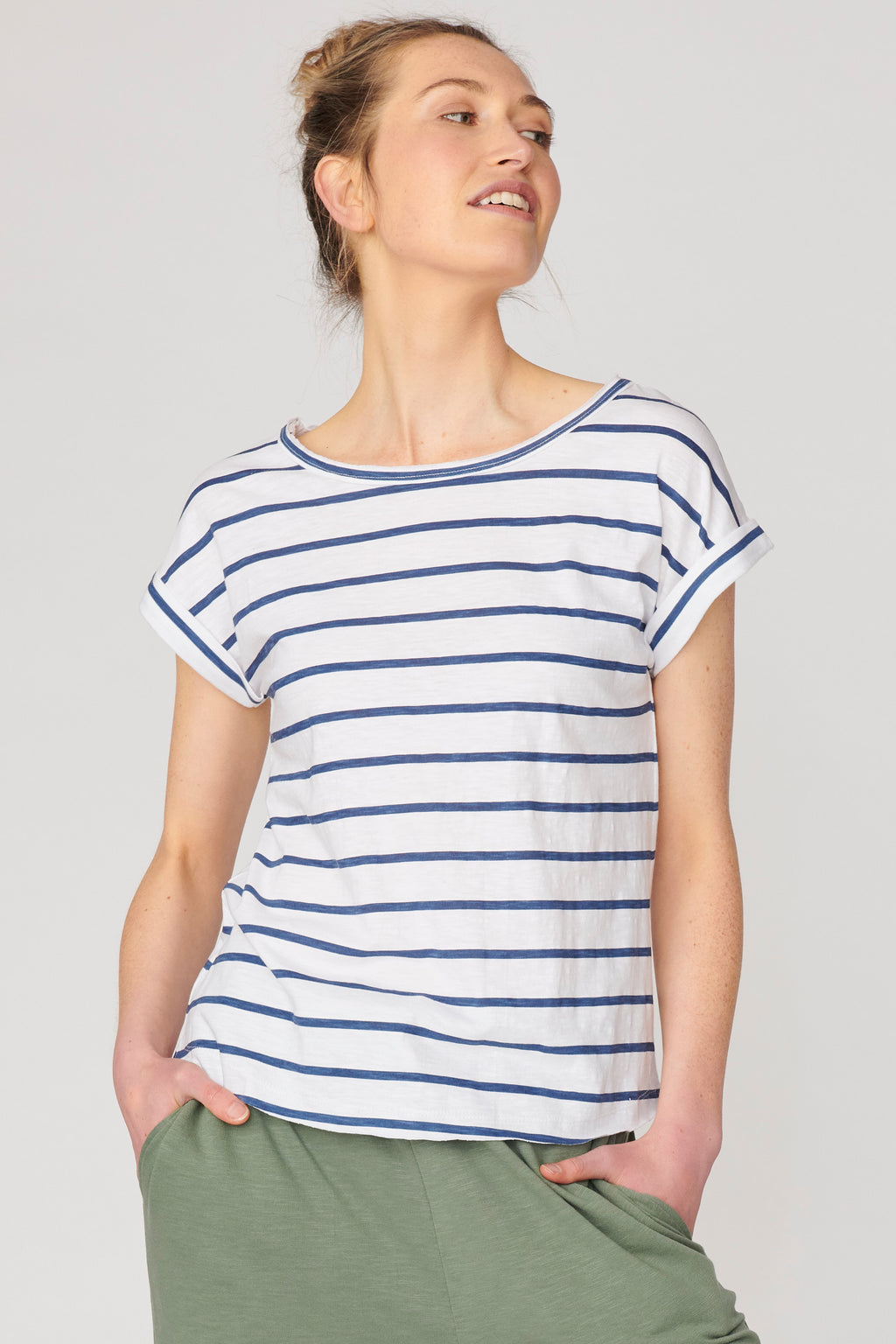 Lulu Organic Cotton Essentials - Santa Barbara Round Neck Tee Stripes