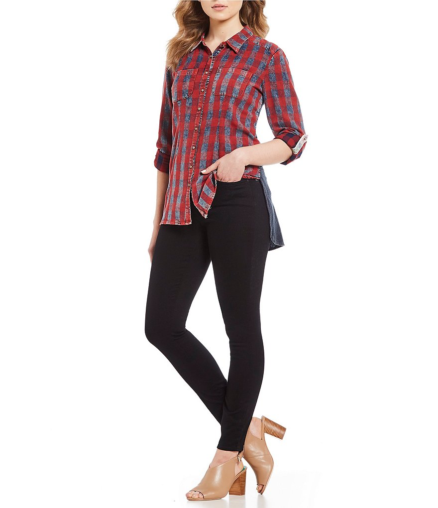 ARATTA ONLY IN DREAMS SHIRT RED PLAID