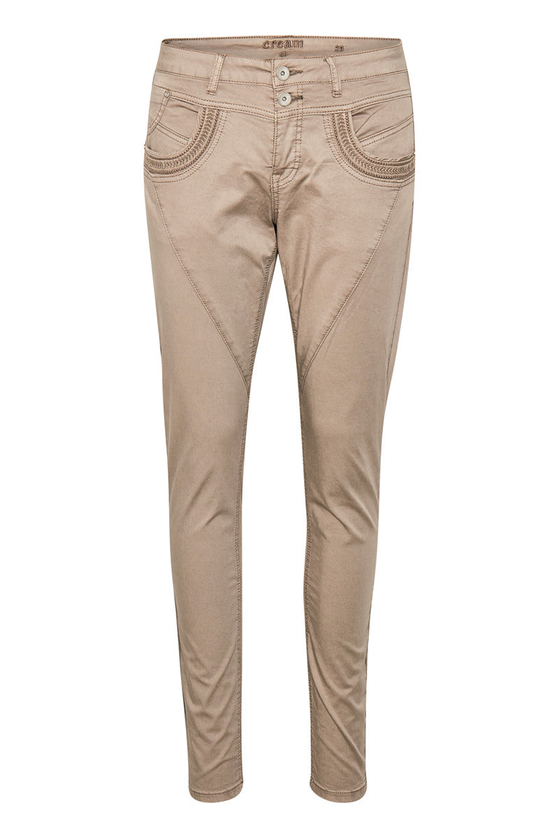 CREAM ZITA PANTS - BAIILY FIT