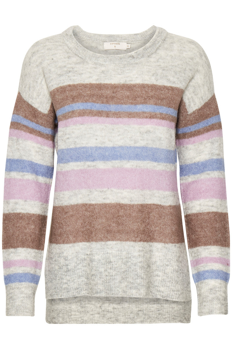 CREAM ZOEY STRIPES KNIT