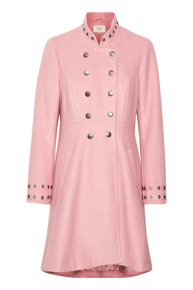 CREAM ANNABELL SPRING COAT PINK