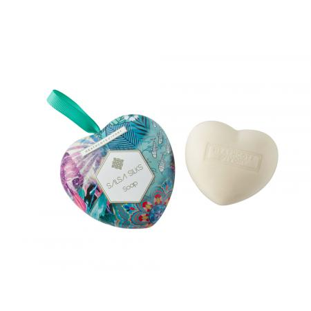 SALSA SILKS HEART SOAP IN TIN