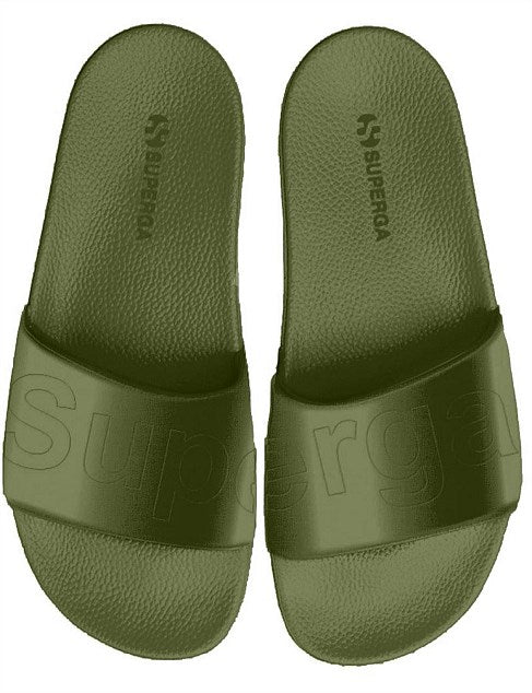 SUPERGA OLIVE SATIN SLIDE
