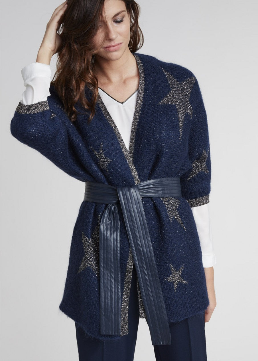LAUREN VIDAL STAR CARDIGAN