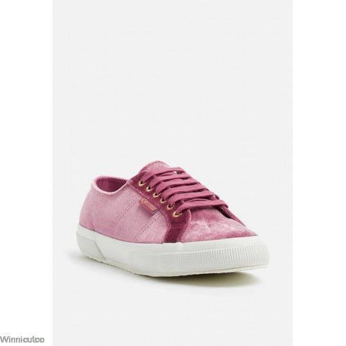 SIZE 36 SUPERGA VELVET RED DAHLIA