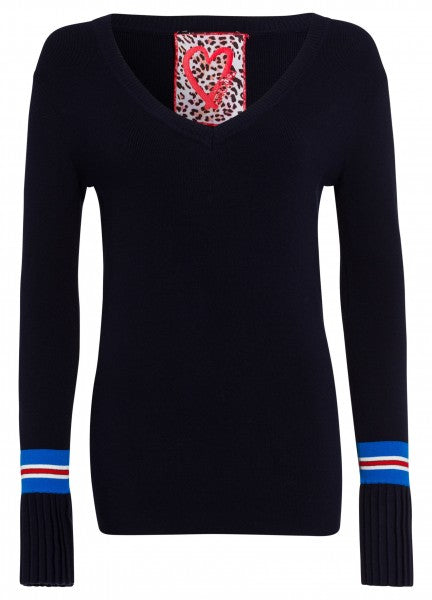 MARC AUREL NAVY JUMPER 81791