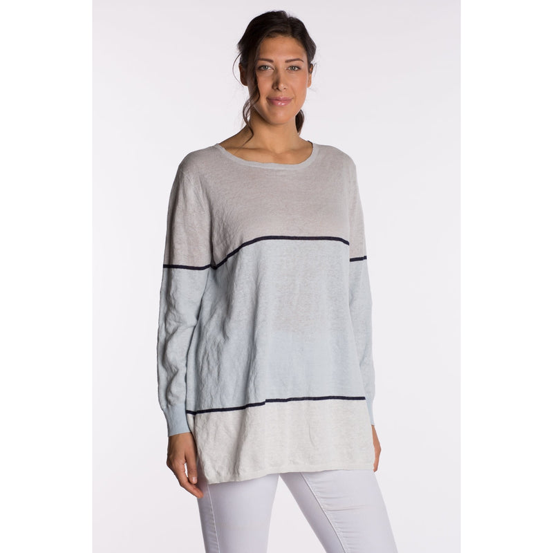 RIDLEY STRIPE CREW NECK TOP