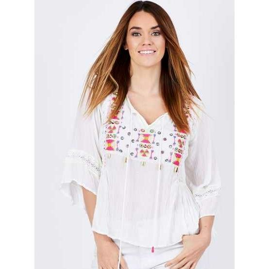 RUBY YAYA MERIANA TOP WHITE