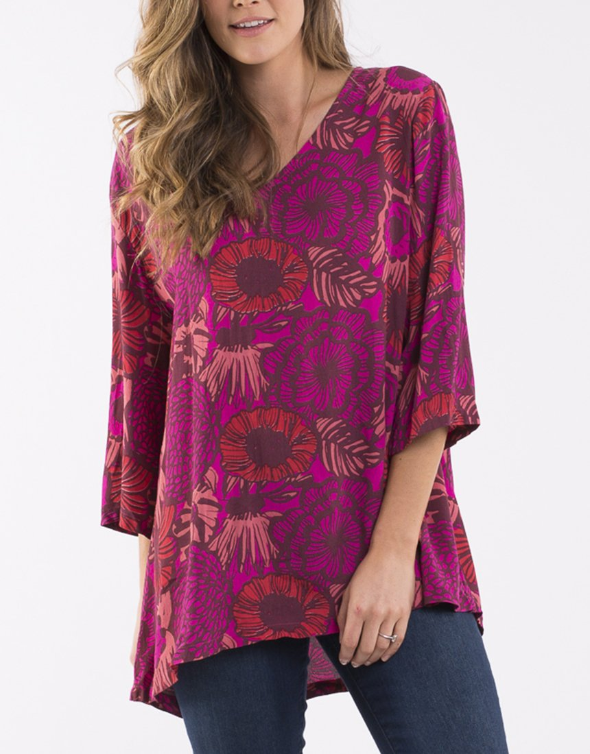 ELM LIFESTYLE AVERY V NECK TOP