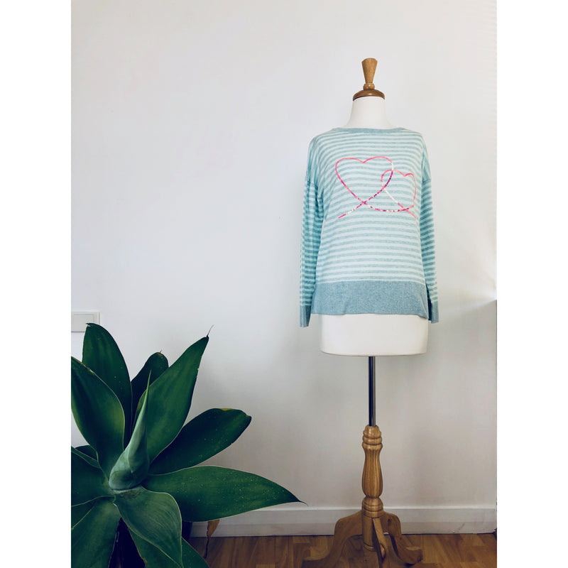 ALESSANDRA LINKED HEARTS SWEATER