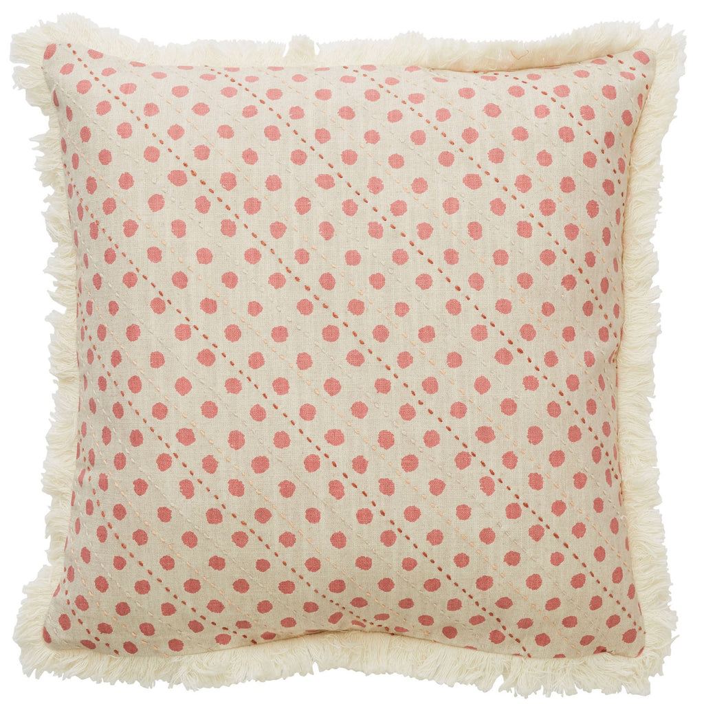 CANVAS LAUREL POPPY CUSHION COVER