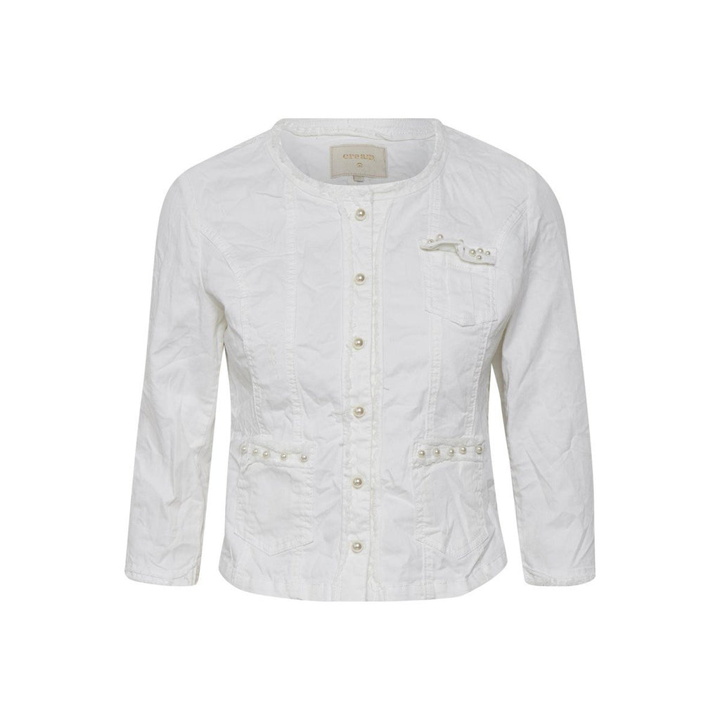 CREAM WHITE DENIM JACKET 392