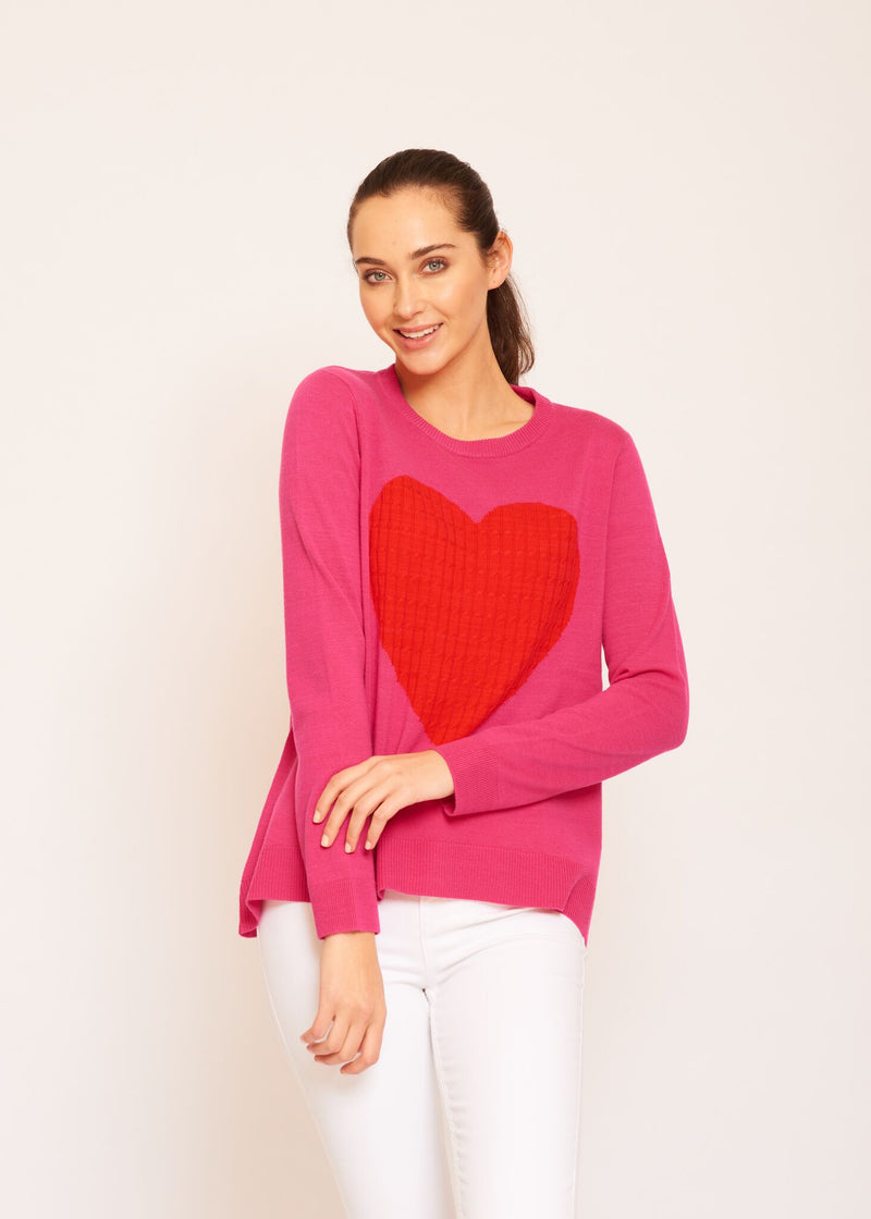 ALESSANDRA TOTAL ECLIPSE OF THE HEART SWEATER PINK