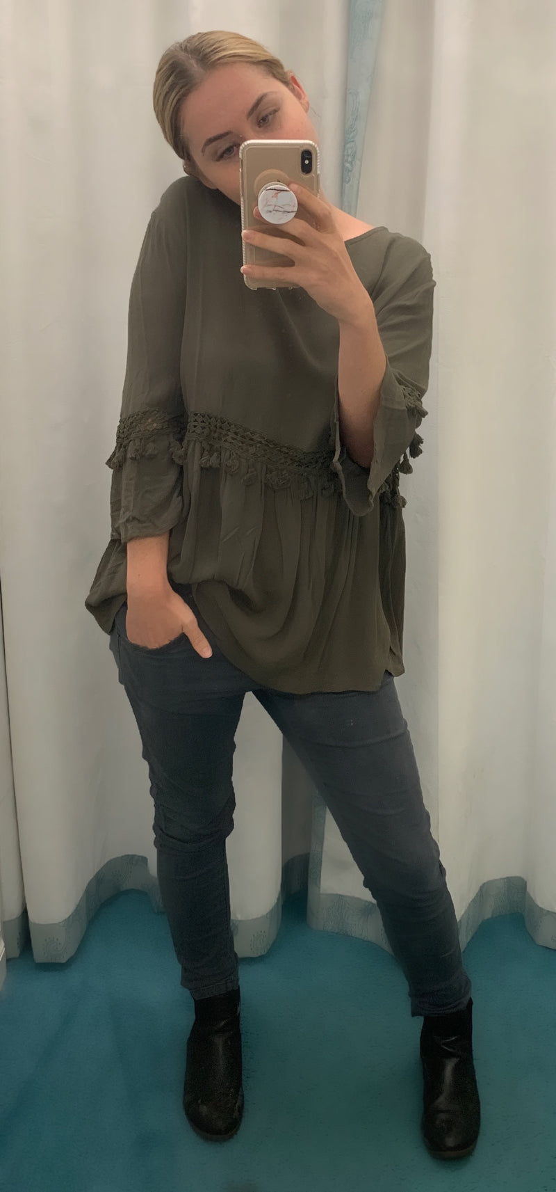HUMIDITY SUNDANCE BLOUSE KHAKI