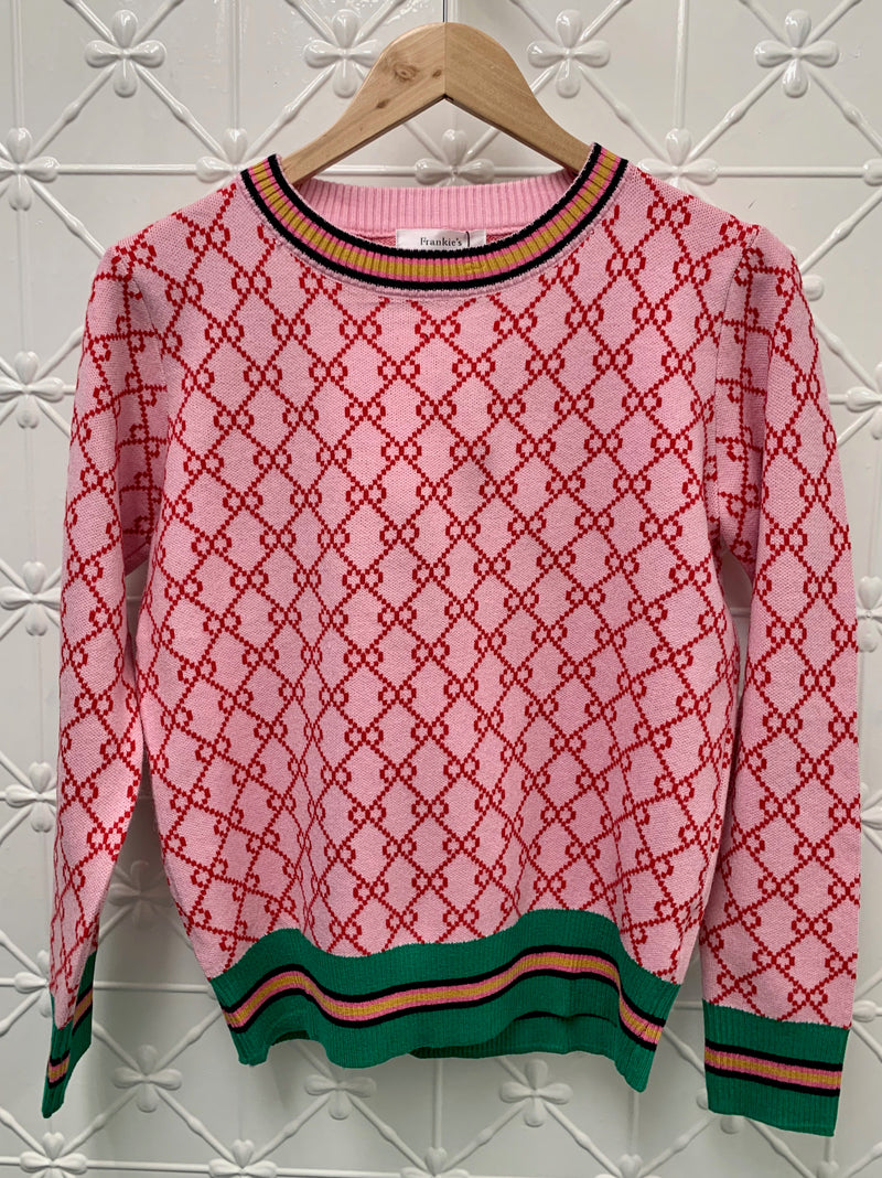 FRANKIES GUCCI PINK KNIT