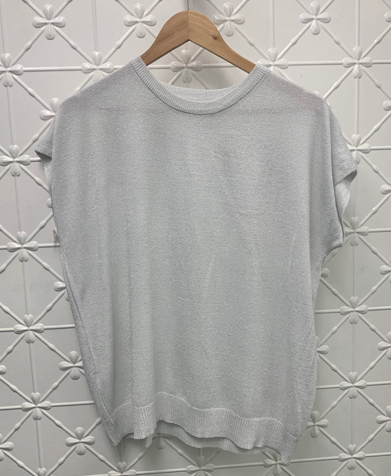 FRANKIES LUREX KNIT TEE (MORE COLOURS AVAILABLE)