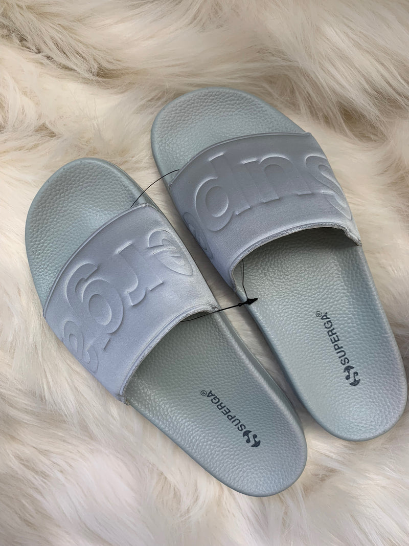 SUPERGA GREY SLIDE