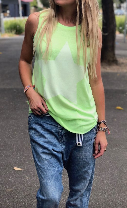 CAT HAMMIL SUMMER TANK – LIME