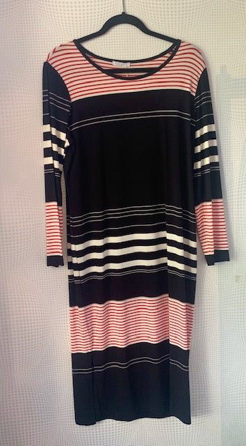 STRIPE DRESS MULTI