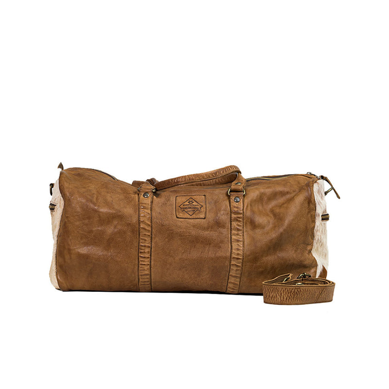 KOMPANERO COWHIDE OVERNIGHT BAG