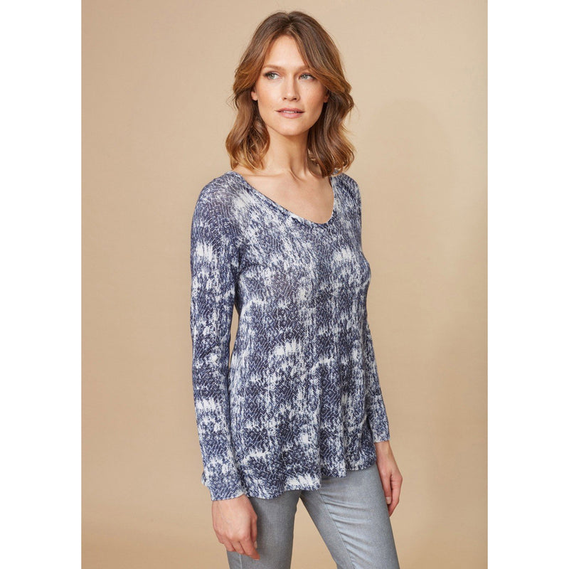 LAUREN VIDAL L/S TOP DENIM 6518