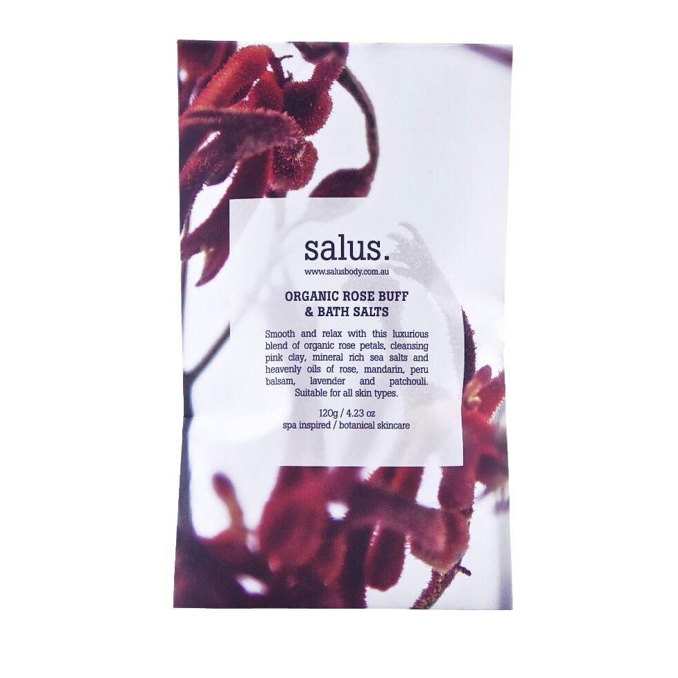 SALUS ROSE PETALS BUFF & BATH SALTS
