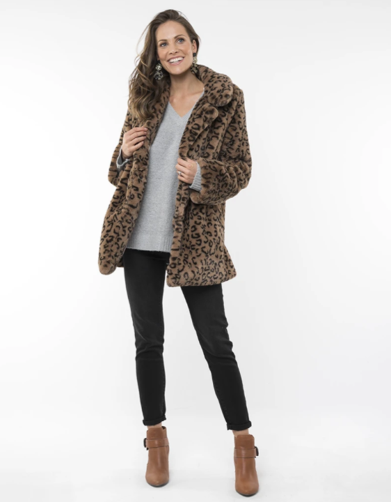 ELM LIFESTYLE FAUX FUR COAT