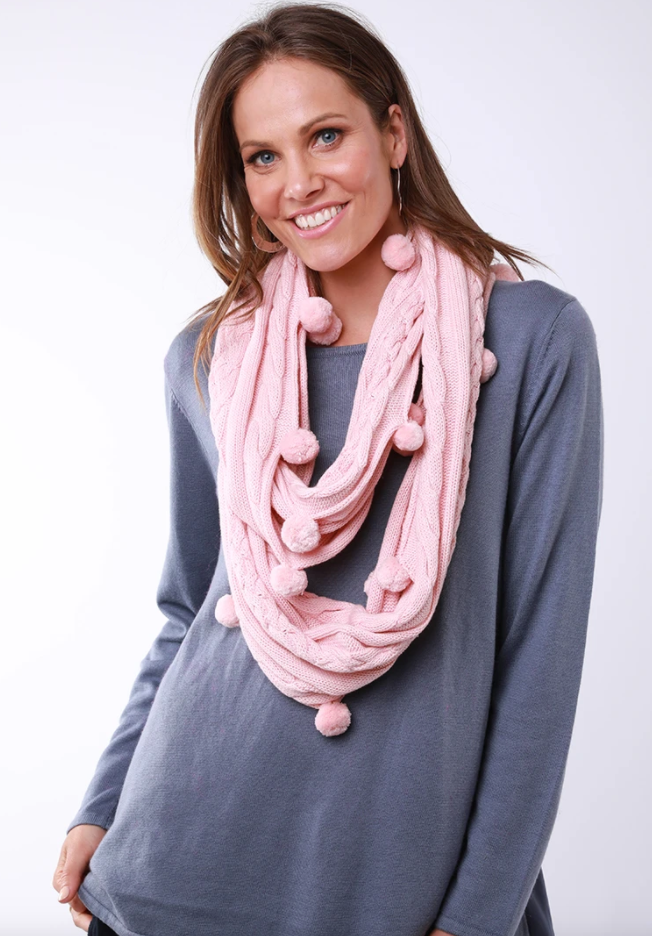 ELM LIFESTYLE BOBBLE LOOP SCARF