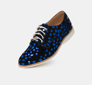 ROLLIE DERBY METALLIC BLUE LEOPARD