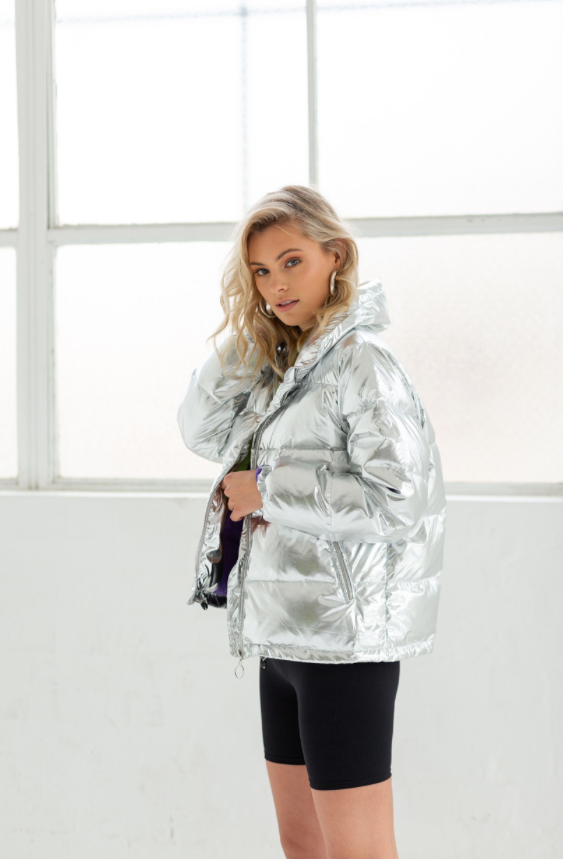 ON TOP MELROSE JACKET SILVER METALIC