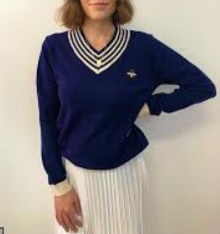 FRANKIES NAVY CRICKET KNIT
