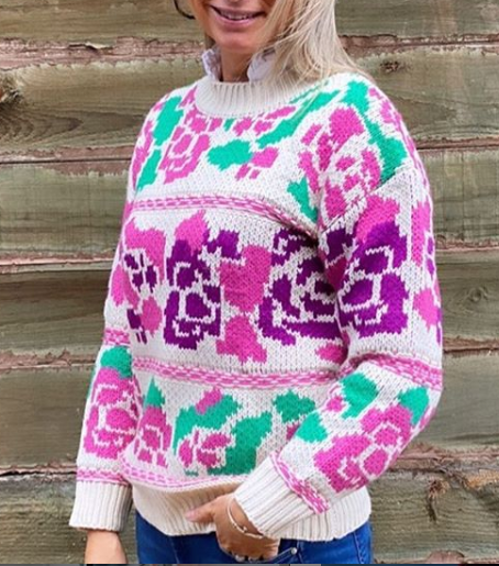 FRANKIES ROSE KNIT